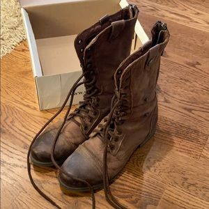 Steve Madden Combat Boots with inside pattern